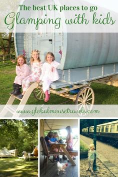The absolute best places to go #glamping in the UK with kids including yurts, gypsy caravans, converted railway carriages and tipis. We've rounded up places in England, Scotland, Wales and Northern Ireland that all the family will love - camping taken to a totally new level.