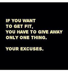 No Excuses.