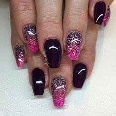 """""""Purple Passion"""" med glitterombre i lila och rosa"""