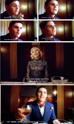 """Mr. James March and The Countess. American Horror Story Hotel Season 5 Episode 7. """"I'm dead, dear. Not stupid."""""""