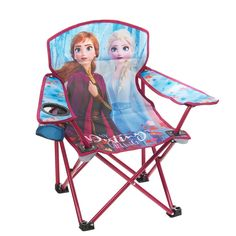 Wonderful for taking along to camp or to outdoor events, this Frozen 2 themed kids' folding armchair features a steel frame that ensures durability and delightful graphics for a fun look. Kids Camping Chairs, Camping With Kids, Go Camping, Arkansas Camping, Camping Pillows, Camping Cooking, Camping Ideas, Kids Folding Chair, Frozen Room