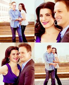 Julianna Marguiles and Josh Charles Alicia and Will- I wanted them to end up together:(