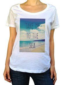 6208f2c72 Modern, boho chic Women's Take Me To The Sea Scoop Neck Shirt. Flowy,.  Boredwalk