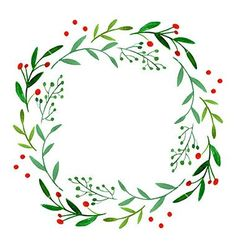 Image result for watercolor christmas wreath