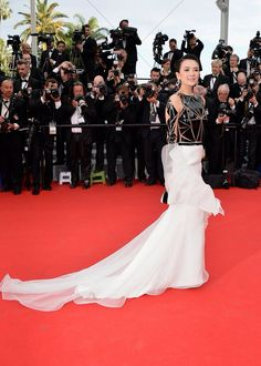 Zhang Ziyi in Stephane Rolland at Cannes 2014