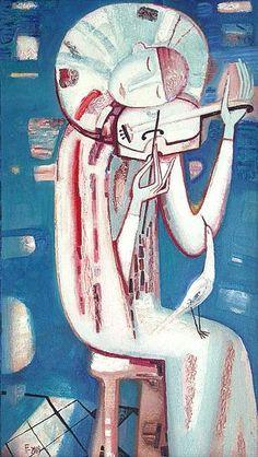 oil figurative art painting Pierrot tatyana gorshunova - PInterest