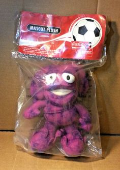 "2002 Fifa Korea Japan World Cup Mascot 6.5"" Figure Plush Toy Soccer Football"