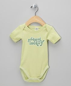 Lime 'Produced Locally' Organic Bodysuit - Infant