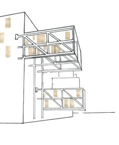 The Wozoco Apartments in Amsterdam by architect MVRDV was built in Amsterdam-Osdorp, Holland in Modular Structure, Steel Structure, Architecture Concept Diagram, Architecture Details, Architecture Sketches, Contemporary Building, Contemporary Architecture, Architecture Amsterdam, Cantilever Architecture