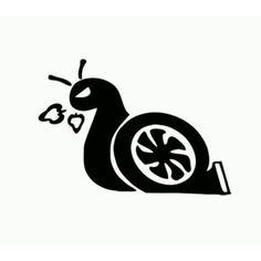 Turbo Snail Die Cut Vinyl Decal PV1943