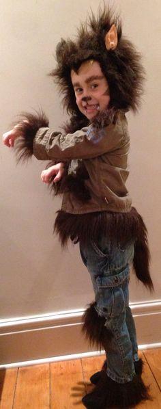 Home made halloween Werewolf costume, boys fancy dress.