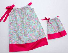 Easter Dress - Pillowcase Dress - Toddler Girl - Matching American Girl Doll Dress - Choose Your Colors #ThePinkRoseBoutique