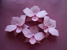 origami orchid flower - Google Search