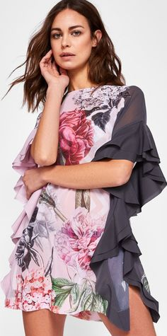 a8bdbc240d7 Ted Baker Palace Gardens ruffle detail cover up