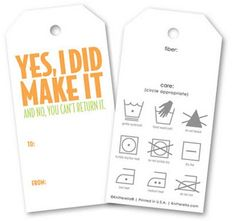 perfect tags for handmade gifts