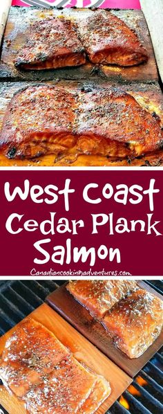 Frugal Food Items - How To Prepare Dinner And Luxuriate In Delightful Meals Without Having Shelling Out A Fortune West Coast Cedar Plank Salmon Family Secret Recipe : Fish Dishes, Seafood Dishes, Seafood Recipes, Grilling Recipes, Cooking Recipes, Bbq Fish Recipes, Grilled Salmon Recipes, Tilapia Recipes, Grilled Fish