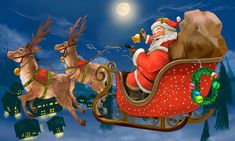 Hand drawn Santa Claus riding a sleigh delivering presents - Buy this stock illustration and explore similar illustrations at Adobe Stock Xmas Wishes Images, Happy Christmas Day Images, Christmas Present Vector, Happy Thanksgiving Images, Merry Christmas Pictures, Merry Christmas Funny, Xmas Photos, Christmas Icons, Wishes Messages