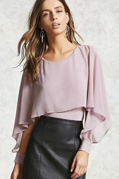 Product Name:Contemporary Cape Bodysuit, Category:top_blouses, Price:19.9