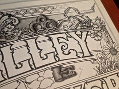 Valley Maker Album Cover by Brandon Paul, via Behance Hand Lettering and #Typography