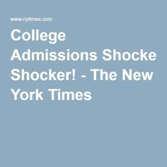 The future has arrived, and it's the thinnest of envelopes. College Information, College Admission, College Life, New York Times, Envelopes, School, Future, News, Future Tense
