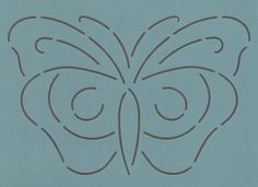 """Butterfly #3- 7"""" - The Stencil Company"""