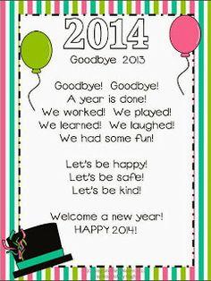 Happy New Year poem freebie!