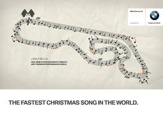 The Fastest Christmas Song in the World. BMW Ad by Draftfcb