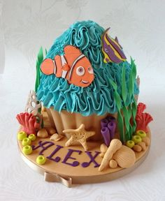 Tropical Fish Tank Giant Cupcake