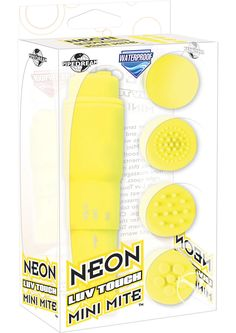 Neon Luv Touch Mini Mite - Yellow by Pipedream Products,inc. on PervHub