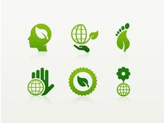 11 think green icons1 Inspiration Mix: Eco and Environmental Designs