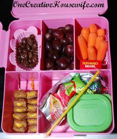 One Creative Housewife: Kindergarten Lunches Week 1