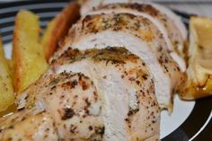 Baked chicken with lemon and thyme Lemon Chicken, Baked Chicken, My Recipes, Favorite Recipes, Love Eat, Food Food, Delicious Food, Baking, Pork