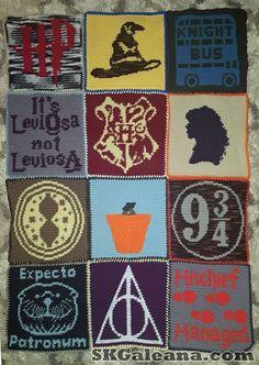 C2c Crochet, Crochet Needles, Crochet Blanket Patterns, Crochet Blankets, Graph Crochet, Knitted Washcloths, Tricot Harry Potter, Harry Potter Crochet, Paper Dolls Printable