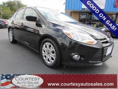 2012 Ford Focus With ONLY 52,129 MILES!  -- Up To 38 MPG! -- CLEAN CAR-FAX! -- Price INCLUDES A 3 MONTH/3,000 Mile WARRANTY! -- CALL TODAY! * 757-424-6404 * FINANCING AVAILABLE! -- Courtesy Auto Sales SPECIALIZES In Providing You With The BEST PRICE On A USED CAR, TRUCK or SUV! -- Get APPROVED TODAY @ courtesyautosales.com * Proudly Serving Your USED CAR NEEDS In Chesapeake, Virginia Beach, Norfolk, Portsmouth, Suffolk, Hampton Roads, Richmond, And ALL Of  Virginia SINCE 1976!