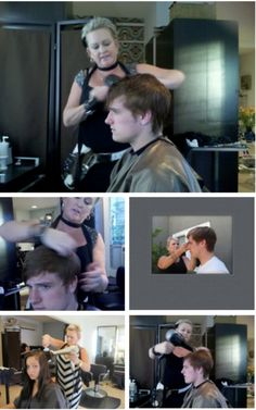 New Behind-the-Scenes Pictures #katniss #peeta #hunger #games #mobie