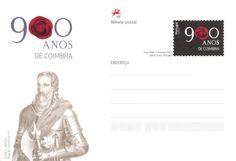 Inteiro Postal comemorativo dos 900 anos de Coimbra. Emitido a 26/05/2011