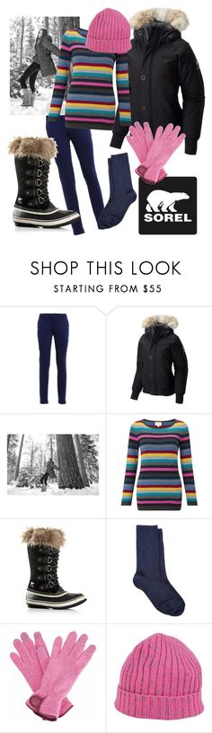 """Tame Winter with SOREL: Contest Entry"" by dayna-marie ❤ liked on Polyvore featuring FAY, SOREL, EAST, Barneys New York, Gizelle Renee, YMC and sorelstyle"