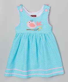 Lil Cactus Aqua & Pink Bird Dress - Infant & Toddler | zulily
