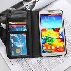 Flip Wallet PU Leather Pouch Case For Samsung Galaxy Note 3 N9000