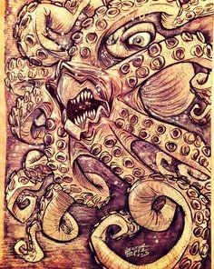 Octopus by heckthor.deviantart.com on @deviantART