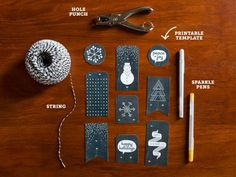 DIY Holiday Gift Tags - Download our free printables!