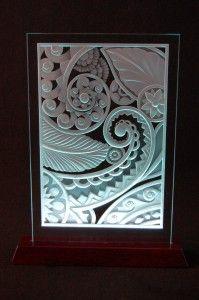 art deco sandblasted glass, Chuck Franklin