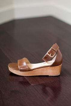 Emerson Fry Flatform - Khaki Leather, $295