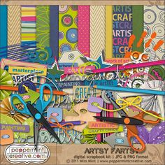 Artsy Fartsy Digital Scrapbook Kit from www.peppermintcreative.com