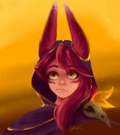 Xayah Fanart - Gold by mariavLuna on DeviantArt League Of Legends Characters, Lol League Of Legends, Bambi, Liga Legend, Fantasy Love, Drawing Games, Furry Girls, Mobile Legends, Video Game Art