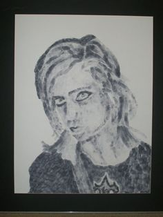 This is a self portrait shaded with my fingerprints dipped in ink. Self Portrait Art Assignments, Freshman Year, Artsy Fartsy, Promotion, Jackson, Self, Deviantart, Portrait, Headshot Photography