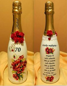 Decoupage, Bottle, Handmade, Gifts, Easter, Car, Crate, Crates, Decorated Bottles