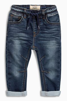 Buy Mid Wash Jogger Jeans online today at Next: United States of America Jogger Pants Outfit, Denim Joggers, Denim Jeans Men, Toddler Jeans, Baby Jeans, Baby Boy Fashion, Kids Fashion, Stylish Shirts, Kids Pants