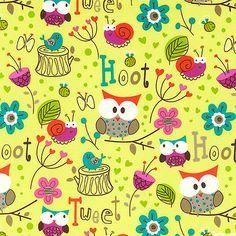 Hoot & Tweet - Owl Prowl - Sprout Green