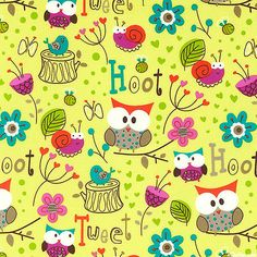Hoot & Tweet - Owl Prowl - Sprout Green